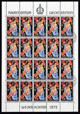 Gestempelte Briefmarken aus Liechtenstein mit Feiertags-und Weihnachts-Motiv
