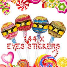 144 x lego ninjago eyes stickers pour lollipops Fête D'anniversaire Célébration étiquettes