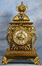 French Cathedral Bronze Clock 19th Century