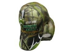 Keep Your Mouth Shut And You Won't Get Caught Camo Mesh Embroidered Cap Hat 939