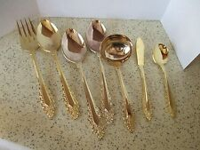 MEDICI, PRESENT STAINLESS STEEL GOLD 7 PC SERVING SET, MADE IN JAPAN