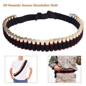 50 Rounds Shotgun Ammo Bandolier Belt 12G 12GA Bullet Holder Carrier Pouch Belts