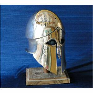 18GA Steel Medieval Greek Corinthian Helmet  X-Mass Knight Greek Helmet