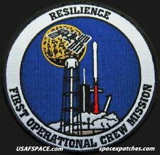 RESILIENCE CREW-1 SPACEX FALCON 9 1ST OPERATIONAL CREW NASA USAF Mission PATCH