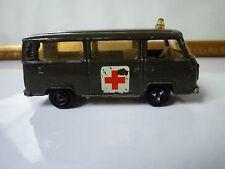 Majorette  N°240 Fourgon VW T2 ambulance armée Made in France