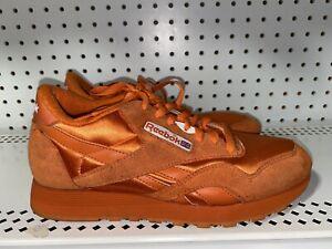 VINTAGE 1980s Reebok Classic Mens Athletic Shoes Sneakers Size 8.5 Orange