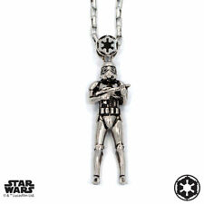 "Han Cholo STAR WARS Silver Stormtrooper Pendant Shadow Series Neckl. 30""  NEW"
