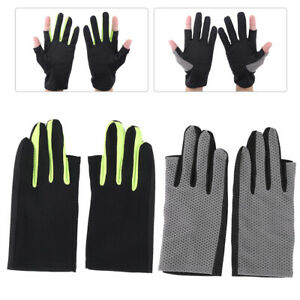 Fishing Gloves 2 Cut Fingers Breathable Sun Protection Anti‑Slip for Cycling