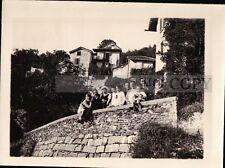 FOTO DEL 1927 - FAMIGLIA IN POSA AD ALBAGNANO - VERBANO CUSIO OSSOLA  C9-1125