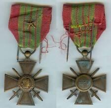 Médaille - Croix de guerre 1939 1 citation étoile de bronze portée