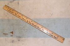 "COCA COLA ADVERTISING GIVEAWAY RULER RULE 12 inch ""A GOOD RULE Do Unto Others """