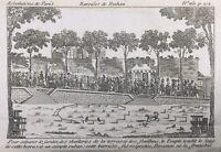 Jardins des Tuileries en 1792 Terrasse des Feuillants Révolution Française
