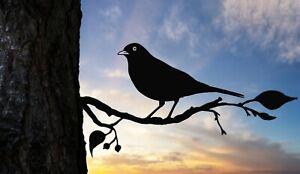 Blackbird metal tree art for the garden Steel Rusty Silver Copper