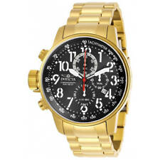 Invicta Men's Watch I-Force Chronograph Black Dial Yellow Gold Bracelet 28745