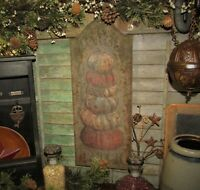 "Primitive Antique Vtg Style 18"" Embossed Pumpkin Patch Tin Advertisement Sign"