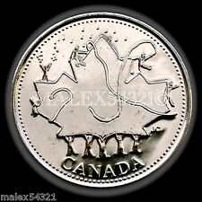 2002P CANADA DAY 25 CENT UNCIRCULATED FROM ROLL