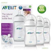Philips AVENT Natural Newborn Feeding Bottle 260ml 3 Bottles BPA Free SCF693/37