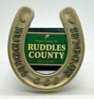 RUDDLES COUNTY METAL PUMP BADGE - BEER PUB HOME BAR BITTER CLIP RUDDLE'S
