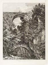 JACOB WILHELM MECHAU - PONTE ANTICO A CIVITA CASTELLANA - Radierung 1795