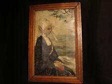 Tableau breton par Pouzols E ou L ? huile sur toile ancienne
