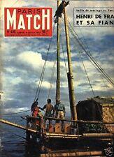 paris match n°430 / tahiti-nui henri de france / 1957
