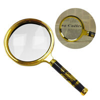 Handheld 15X Magnifier Magnifying Glass Loupe Reading Jewelry Aid Big Large