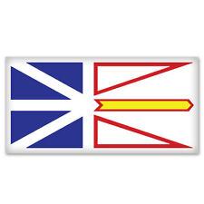 """Newfoundland Labrador Canada Flag bumper sticker 5"""" x 3"""""""