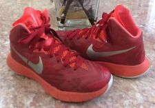 new styles a179f e0453 Nike Lunar Hyperquickness Red Silver Basketball Shoes Size 4.5  652775-606  EUC