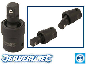 "Silverline Impact Universal Swivel Joint 1/2"" Hardened Coated Cr Mo Steel 60mm"