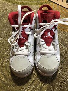 Nike Air Jordan Retro 6 VI Alternate Preschool Shoe Sz 13c 384666-113 Red White