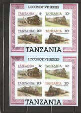 Tanzania 1985 Locomotive Series, Sheetlet ,  Imperforated Proof . MNH