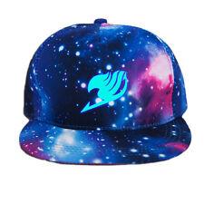 2017 New Anime Fairy Tail Baseball Cap Snapback Sun Hat Cosplay Hip Hop Luminous