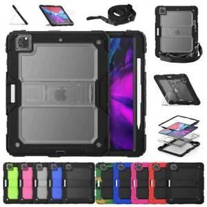 "For iPad Pro 11 12.9"" 2020 2018 Shockproof Hard Case Cover Stand Shoulder Strap"