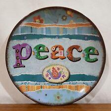 "Carson Home Accents Lori Siebert Design PEACE Decorative Ceramic Plate - 3.75"""