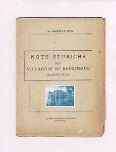 libro storia locale villaggio di sansimone ( sannicola ) ed.1951 lecce  pag. 44