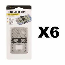 Nite Ize Financial Tool Stainless Credit Card Size 7-in-1 Multi Tool (6-Pack)