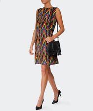NWT $695 M MISSONI Zig Zag Tribal-Print  Silk Dress Sz 42, US6