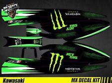Kit Déco pour / Decal Kit for Jet Ski Kawasaki 750 Sx Sxr Sxi - Monster