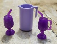 BARBIE DOLL PURPLE  PITCHER TROPICAL DRINK ACCESSORY LOT