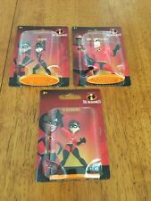 The Incredibles -Set Of 3 Mini Action Figures -Toys- Disney Pixar-New