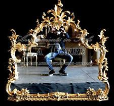 Specchiera intagliata foglia oro antica vetro molato barocco da parete S25