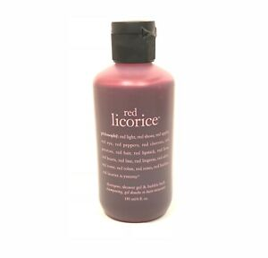 Philosophy RED LICORICE 3 in 1 Body Wash Shampoo 6 oz NEW