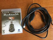 PS3 ROCKSMITH Game + REAL TONE CABLE Learn to Play Guitar & Bass