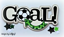 CRAFTECAFE SOCCER TITLE premade paper piecing scrapbook diecut piece page album