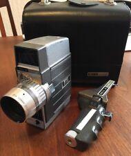 Vintage Bell & Howell Wind Up Clockwork 8mm Cine Movie Camera, Case, Pistol Grip
