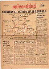 Periodico Universidad De Puerto Rico Rio Piedras 15 De Octubre 1953 Num. 77 UPR