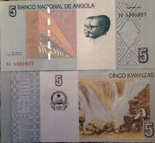 ANGOLA 2012 5 KWANZAS UNCIRCULATED BANKNOTE P-NEW BUY FROM A USA SELLER !