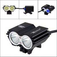8000LM 2X XM-L T6 LED SolarStorm USB Bicycle Headlight Bike Light Lamp 4-Modes