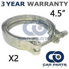 """2x V-BAND Morsetto esterno acciaio inox tubo di scarico Turbo Radiatore 4.5"""" 114mm"""
