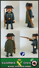 GUARDIA CIVIL PLAYMOBIL CUSTOM BENEMERITA POLICIA POLIZEI SOLDADO EJERCITO WW2